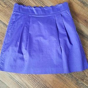 J. Crew purple skirt size 6
